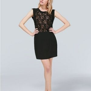 Wilfred Sablons lace dress w lined top, black